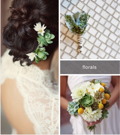 succulents headdress boutunniere bouquet wedding